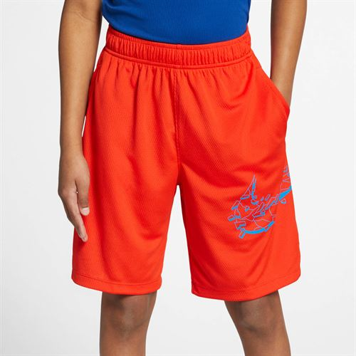 Nike Boys Dri Fit Short - Habanero Red/Photo Blue