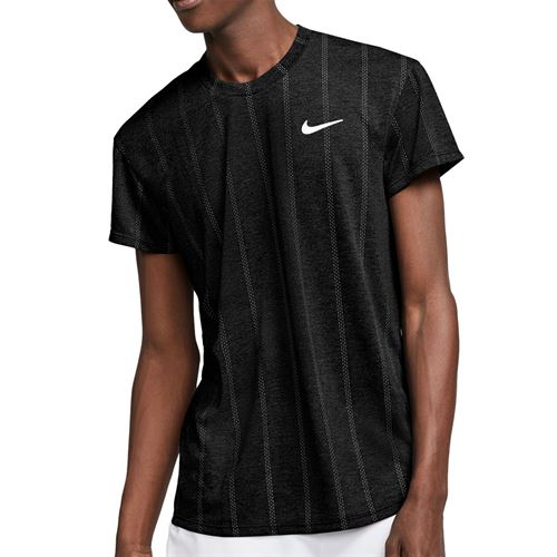 Nike Court Challenger Crew Shirt Mens Black/White CI9146 010