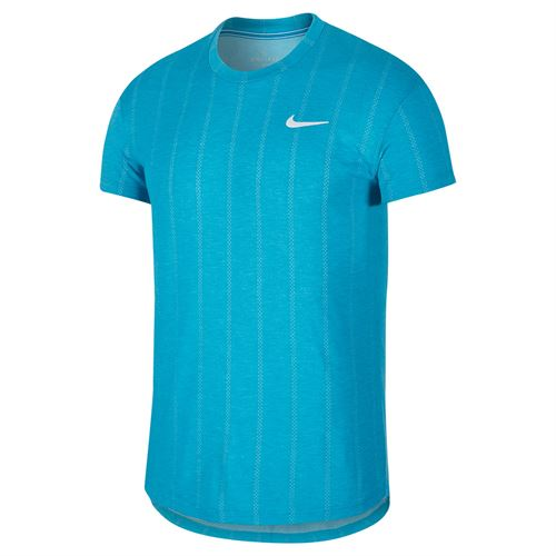 Nike Court Challenger Crew Shirt Mens Neo Turquoise/White CI9146 425