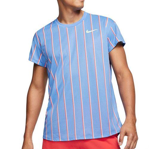 Nike Court Slam Crew Shirt Mens Royal Pulse/Ghost Green CI9150 478