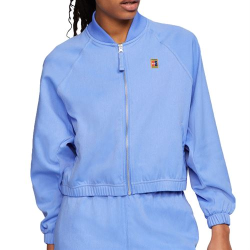 Nike Court Full Zip Jacket Womens Royal Pulse/Silver/Team Gold CI9310 478
