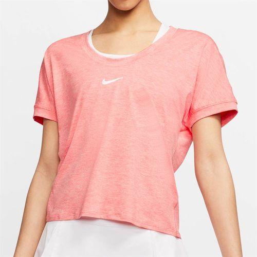 Nike Court Dri Fit Top Womens Sunblush/White CI9316 655