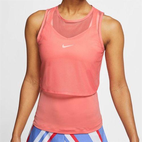 Nike Court Dri Fit Sleeveless Top Womens Sunblush/White CI9320 655