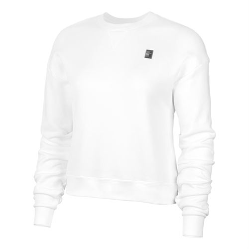 Nike Court Dri Fit Long Sleeve Pullover Womens White CI9376 100