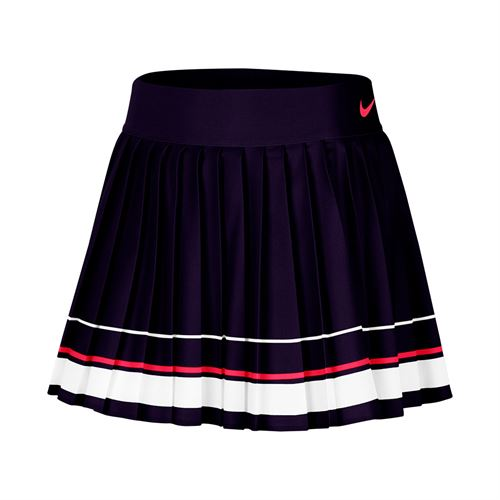 Nike Maria Skirt Womens Blackened Blue/White/Laser Crimson CI9386 451