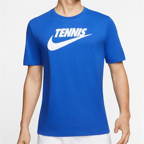 Nike Court Tennis Graphic Tee Shirt Mens Game Royal/White CJ0429 481
