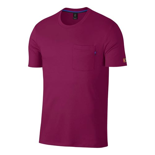 Nike Court Heritage Tee - True Berry/White