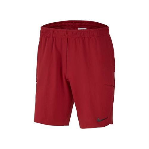 Nike Court Flex Ace Short 9 inch - Team Crimson/Black