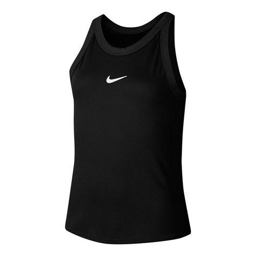 Nike Girls Court Dri Fit Tank Black/White CJ0946 010