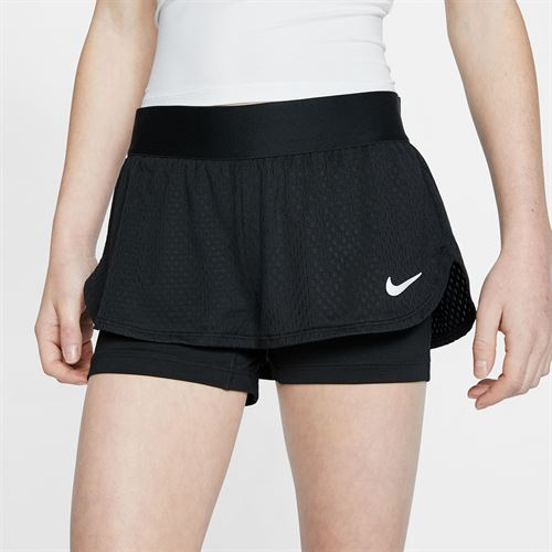 Nike Girls Court Flex Short Black/White CJ0948 010