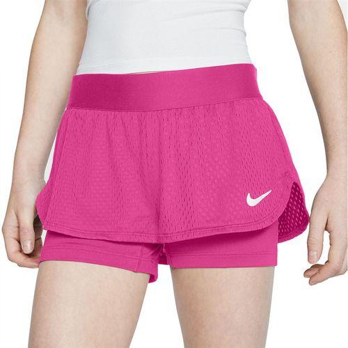 Nike Girls Court Flex Short Vivid Pink/White CJ0948 616