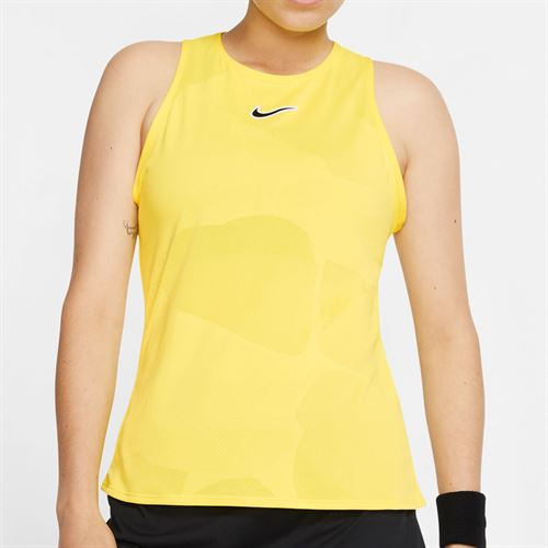 Nike Court Tank Womens Opti Yellow/Off Noir CJ1151 731