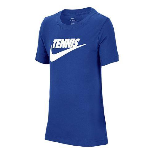 Nike Boys Court Dri Fit Graphic Tee Shirt Game Royal/Black CJ7758 481