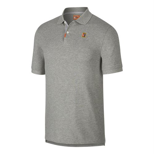 Nike The Nike Polo Shirt Mens Dark Grey Heather/Wolf Grey CJ9524 063