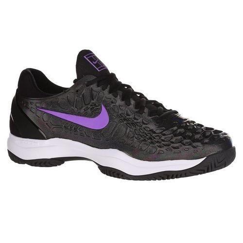 Nike Air Zoom Cage 3 Mens Tennis Shoe - Black/Bright Violet/Multi Color