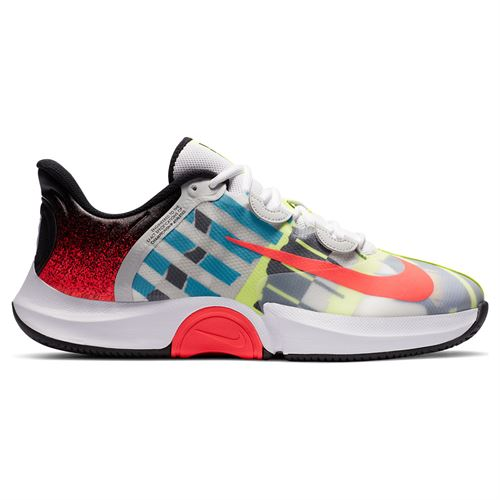 Nike Court Air Zoom GP Turbo Mens Tennis Shoe White/Solar Red/Hot Lime/Neo Turquoise CK7513 101