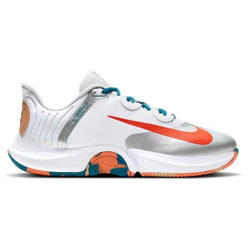 Nike Court Air Zoom GP Turbo Mens Tennis White/Orange Team/Green Abyss/Praline CK7513 104