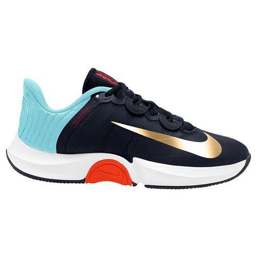 Nike Court Air Zoom GP Turbo Mens Tennis Shoe - Obsidian/Blue