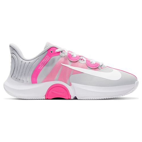 Nike Court Air Zoom GP Turbo Womens Tennis Shoe - Grey/Pink