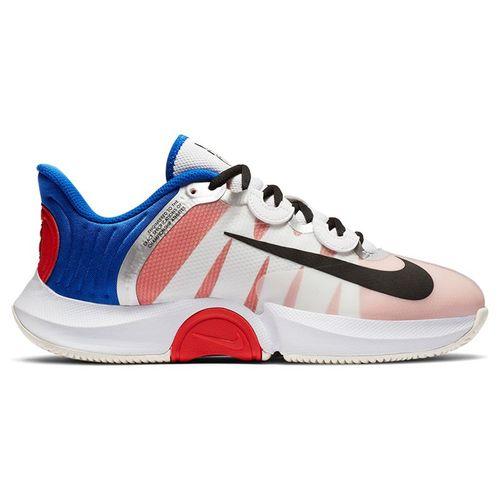 Nike Court Air Zoom GP Turbo Womens Tennis Shoe White/Black/Racer Blue/Light Crimson CK7580 100