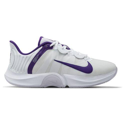 Nike Court Air Zoom GP Turbo Womens Tennis Shoe White/Court Purple/Geyser Grey CK7580 102