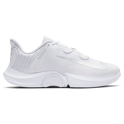 Nike Court Air Zoom GP Turbo Womens Tennis Shoe White/Metallic Silver CK7580 104