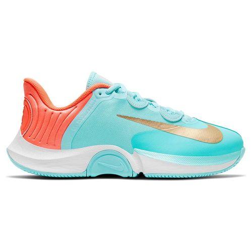 Nike Court Air Zoom GP Turbo Womens Tennis Shoe COPA/Metallic Gold/Bright Mango/White CK7580 400