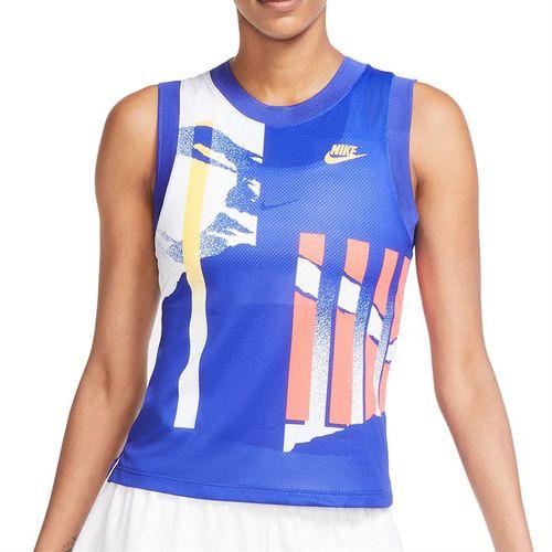 Nike Court Slam Tank Womens Ultramarine/White/Solar Red/Citrus CK8432 459