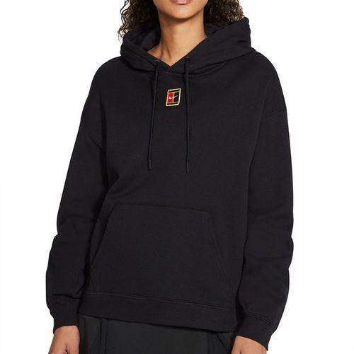 Nike Court Heritage Hoodie Womens Black/White CK8447 010