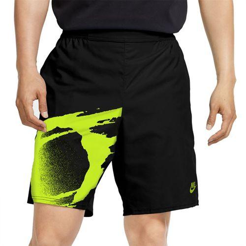 Nike Challenge Court Slam Short - Black/Hot Lime