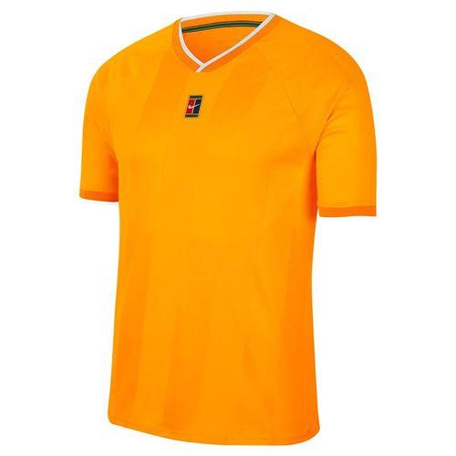 Nike Court Breathe Slam Crew Shirt Mens Sundial/White CK9799 717