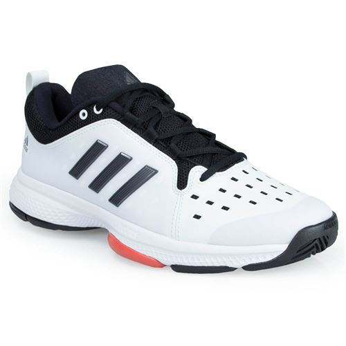 adidas Barricade Classic Bounce Mens Tennis Shoe - White/Night Metal/Trace Scarlet