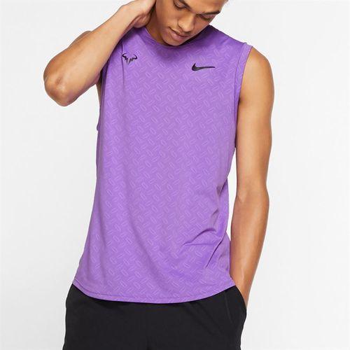 Nike Court Rafa Sleeveless Crew Shirt - Bright Violet/Black