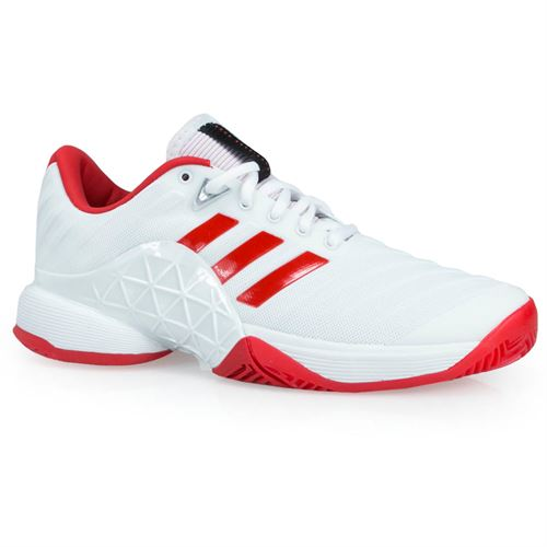 adidas Barricade 2018 Womens Tennis Shoe - White/Scarlet CQ1726