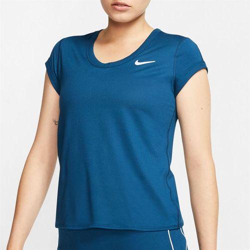 Nike Court Dri Fit Top Womens Valerian Blue/White CQ5364 432