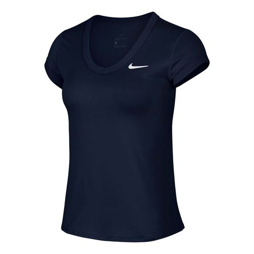 Nike Court Dri Fit Top Womens Obsidian/White CQ5364 451