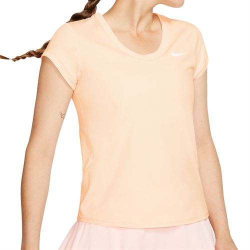 Nike Court Dri Fit Top Womens Guava Ice/White CQ5364 838