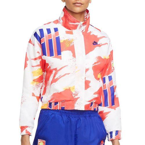 Nike Court Jacket Womens White/Solar Red/Citrus/Ultramarine CQ9176 101