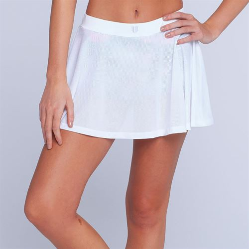 ebb319fcec051 Eleven Caracas Meshed Up 13 Inch Skirt - White
