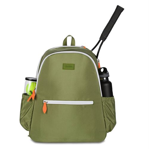 Ame and Lulu Court Side Tennis Backpack Army Green
