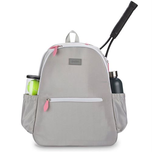 Ame and Lulu Court Side Tennis Backpack - Grey/White