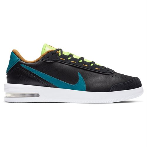Nike Court Air Max Vapor Wing Premium Mens Tennis Shoe - White/Valerian Blue/Total Crimson/Gold