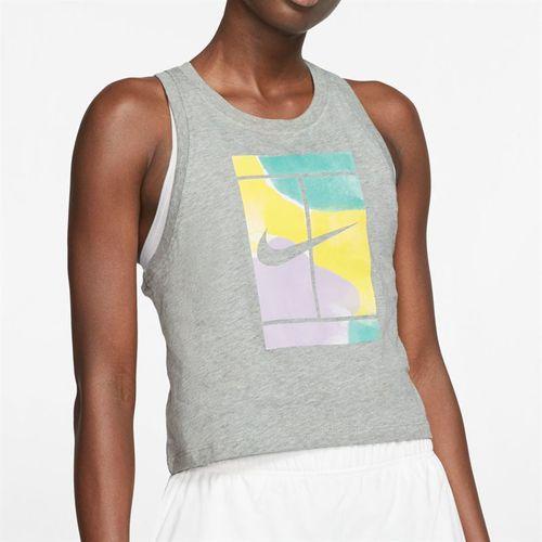 Nike Court Logo Tank Womens Dark Heather Grey CT43476 063