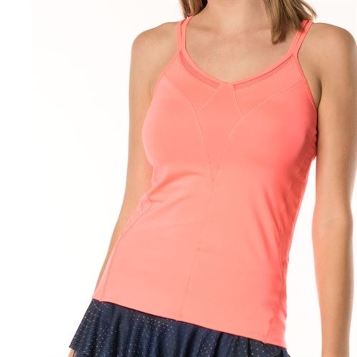 Lucky in Love Active Fit Ultraviolet Strappy Tank - Lava