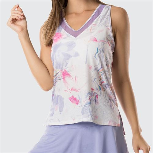 Lucky In Love Lilac It A Lot Chill Fit Vivid Diamond Back Tank - Lilac
