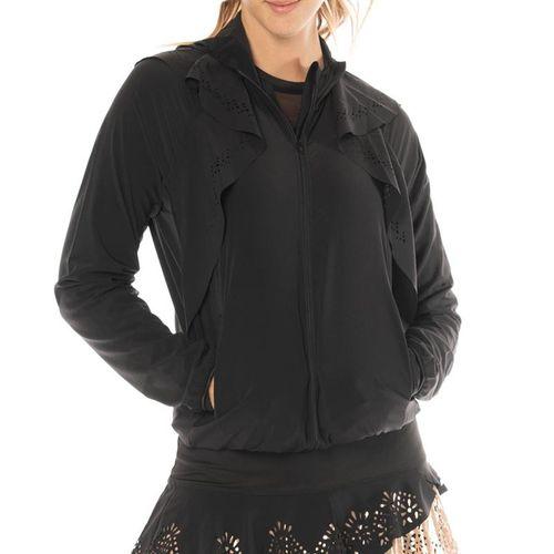Lucky in Love Metallic Laser Flip Jacket Womens Black CT553 856001