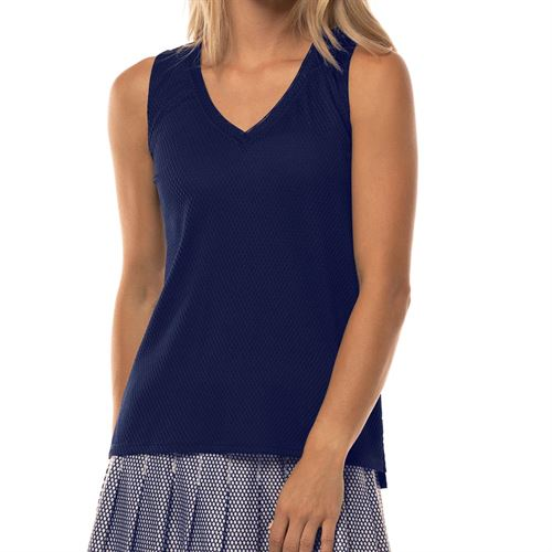 Lucky in Love Wavy Relaxed Racerback Tank Womens Midnight CT639 401