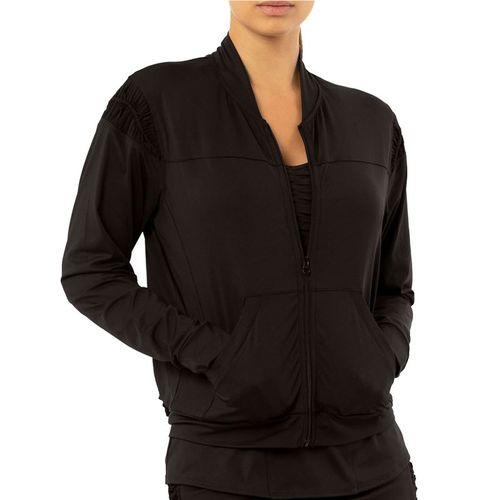 Lucky in Love Rockin Rococo Macrama Bomber Jacket Womens Black CT683 001