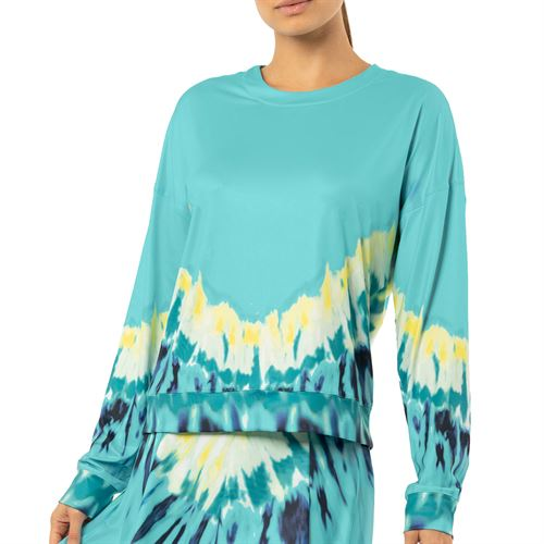 Lucky in Love Peace Out Psychedelic Long Sleeve Top Womens Opal CT699 C43470