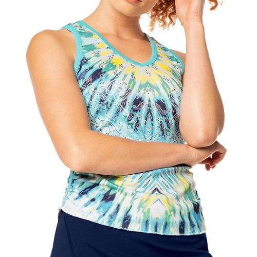 Lucky in Love Peace Out Festival Tank Womens Opal CT704 C28470